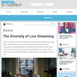 The Diversity of Live Streaming - Digital Doughnut